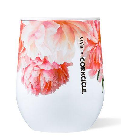 $29.95 Stemless Wine-Floral