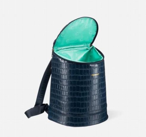 $199.50 Eola Bucket Bag-Navy Croc
