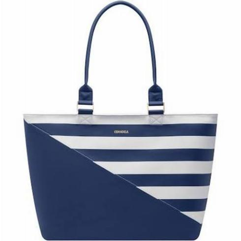 $130.00 Virginia Tote-Navy Stripe