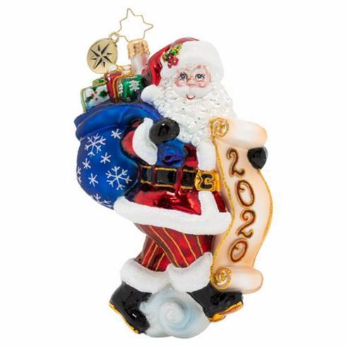 $63.00 2020 Ornament-Santa Saves the Date