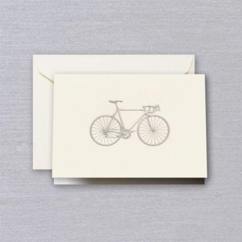 Crane & Co   Racing Bicycle Engraved Folded Notes $22.00