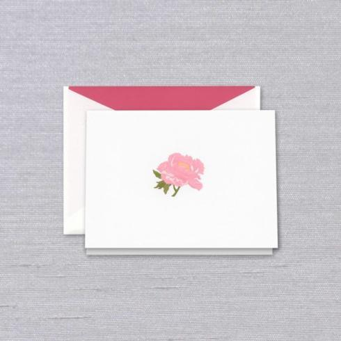 $32.00 Engraved Peony Folded Notes