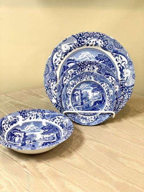 $85.00 Blue Italian 4 Piece Place Setting
