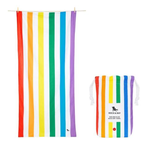 $38.00 Rainbow Skies Beach Towel