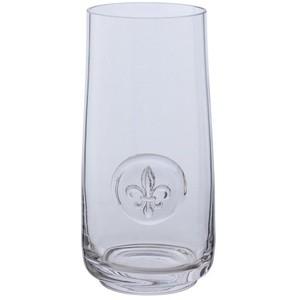 Pieces of Eight Exclusives Louisiana Favorites Mardi Gras Fleur de Lis Highball $12.50