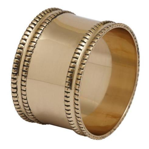 Pieces of Eight Exclusives   Napkin Ring-Antique Gold Finish $6.50