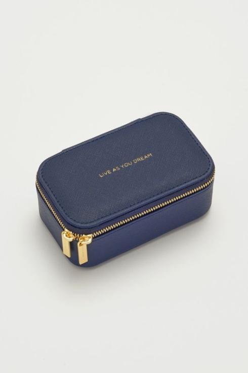 $29.95 Mini Jewelry Box-Navy