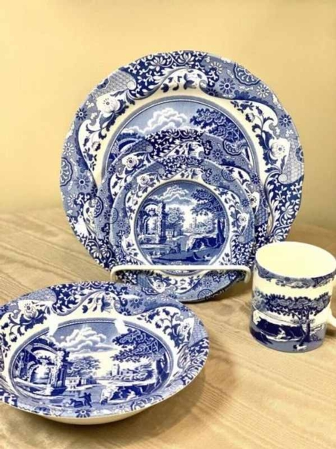 Pieces of Eight Exclusives   Blue Italian by Spode five piece place setting $109.40