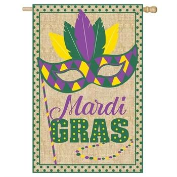 Mardi Gras Flag-Mask-Burlap collection with 1 products