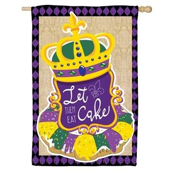 Mardi Gras Garden Flag-King Cake collection with 1 products