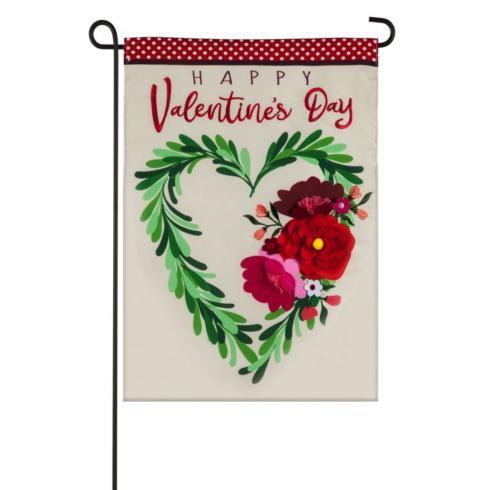 $15.95 Garden Flag-Floral Heart Wreath