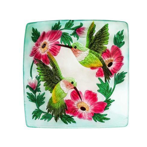 Evergreen   Hummingbird Glass Bird Bath $49.50