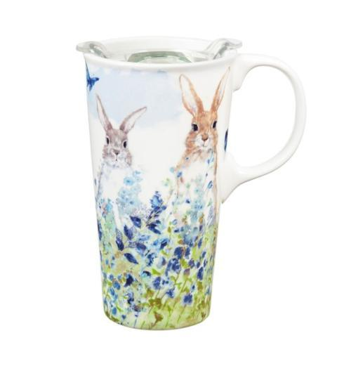 $17.95 Bunnies in Meadow Travel Cup