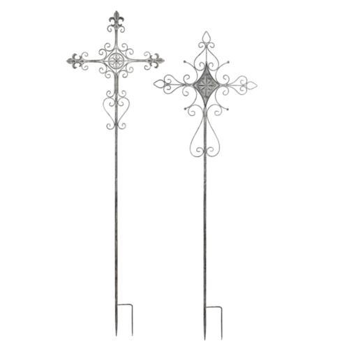 Evergreen   Metal Cross Stake $28.50