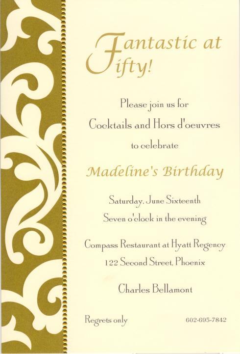 $17.95 Invitation-Antoinette Gold