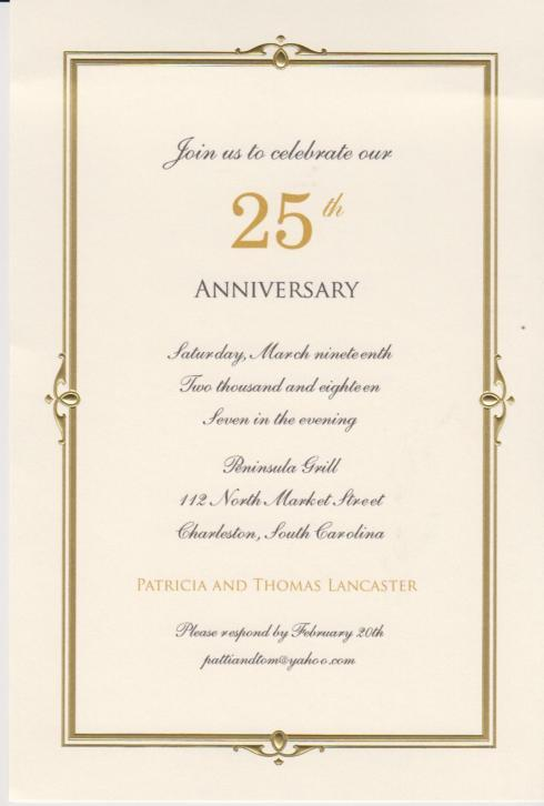 $18.95 Invitation-Chapelle Ivory/Gold