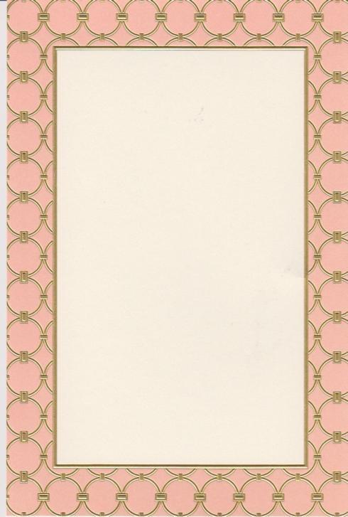 $18.95 Invitation-Athena Blush/Gold