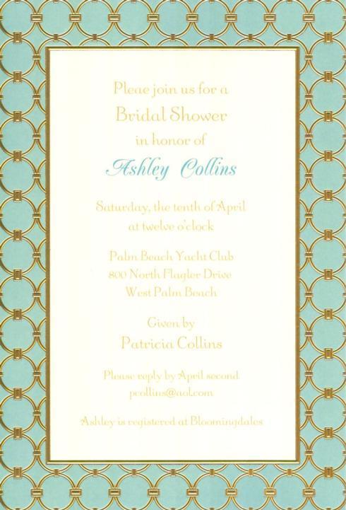 $17.95 Invitation-Athena Oxford Blue/Gold