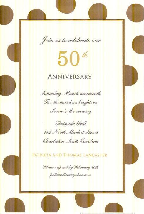 $18.95 Invitation-Felicity Gold on Ivory