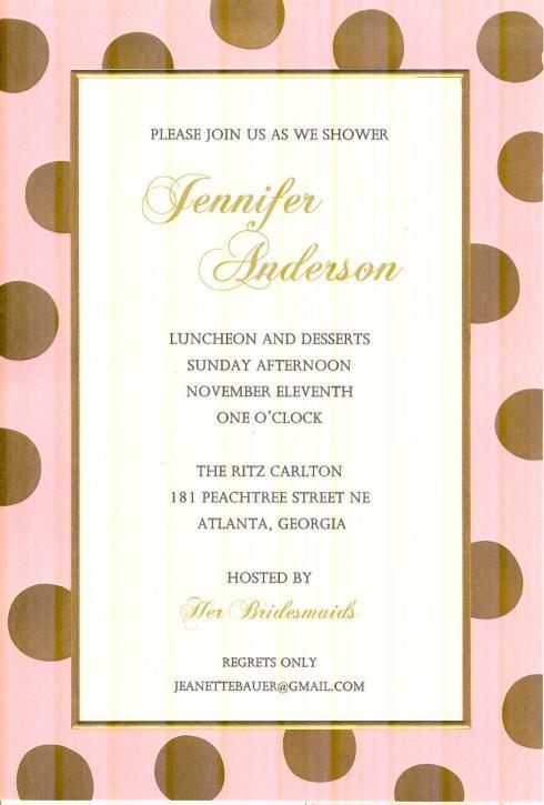 $17.95 Invitation-Felicity Blush/Gold
