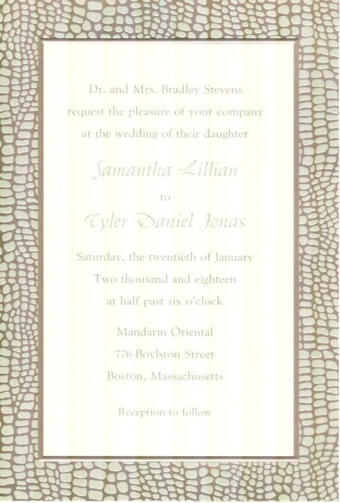 $17.95 Invitation-Serengeti Crocodile