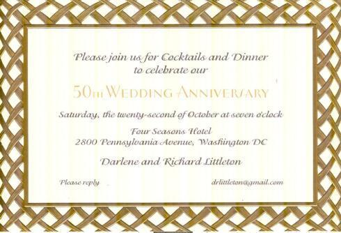 $17.95 Invitation-Weave Gold