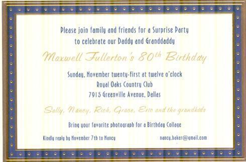 $18.95 Invitation-Tempo Blue