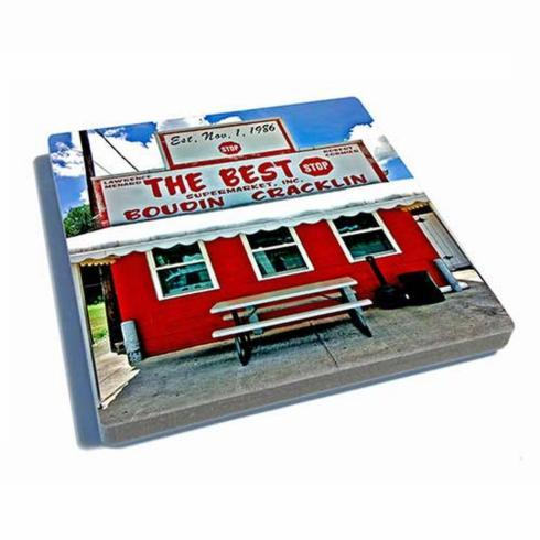 Pieces of Eight Exclusives Louisiana Favorites Louisiana Must Haves Coaster-Best Stop-Color $9.95