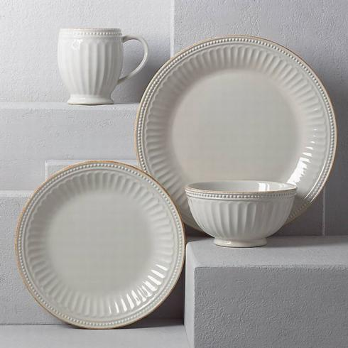 French Perle Groove White 4 Piece Place Setting collection with 1 products