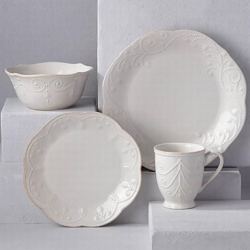 French Perle White 4 Piece Place Setting collection with 1 products