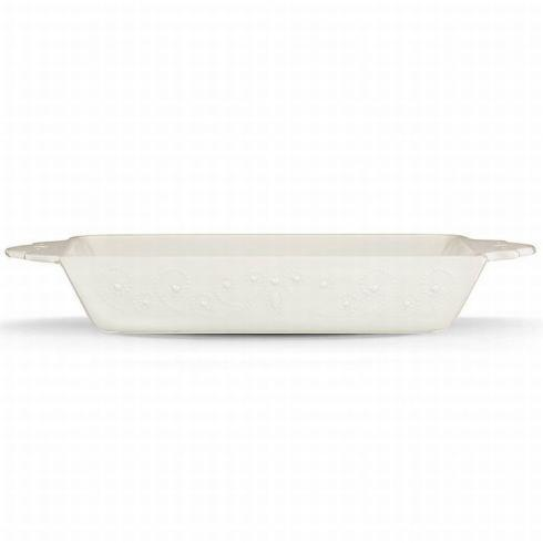 French Perle White Rectangular Baker collection with 1 products