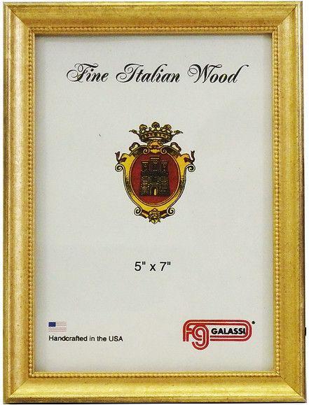 F.G. Galassi   Frame-Vintage Gold Bead 8x10 $46.50