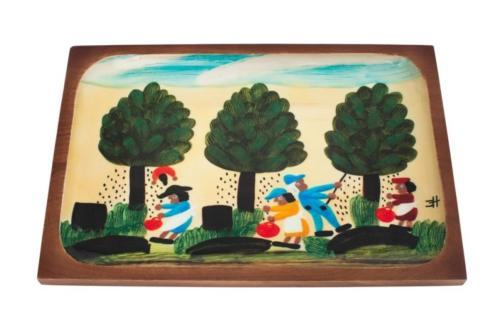 Pieces of Eight Exclusives   Mango Wood Pecan Picking Cheese Board $100.00