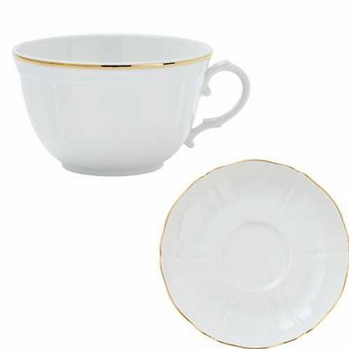 Pieces of Eight Exclusives   Corona Gold Cup & Saucer $55.00