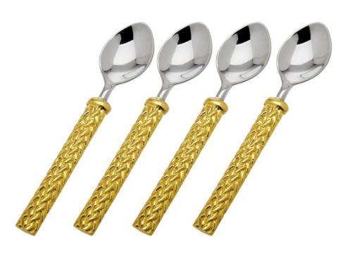 $44.00 Herringbone Dessert Spoons/4