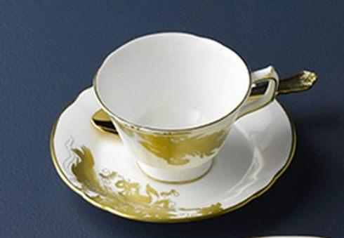 $157.00 Gold Avesbury Motif cup and saucer