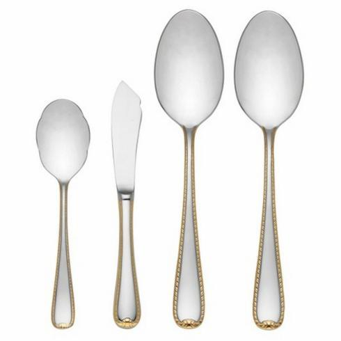 Golden Ribbon Edge Flatware 4PC Serving Set collection with 1 products