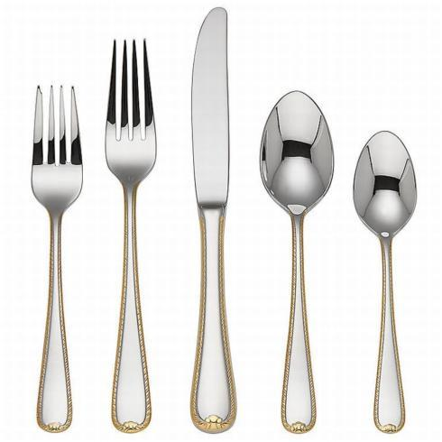Golden Ribbon Edge Flatware 5PPS collection with 1 products