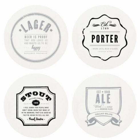 $34.95 Letterpressed Beer Coasters