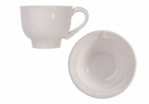 $45.00 Acanthus White Cup & Saucer
