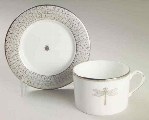 June Lane Platinum Cup & Saucer-Discontinued