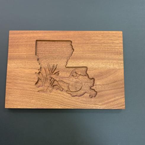 $40.00 Fleur de Lis Cutting Board