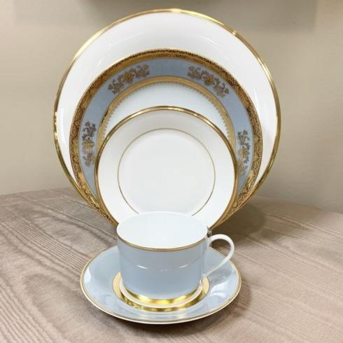 Eternal White/Orsay Powder Blue/MAK Grey/Gold 5 Piece Place Setting collection with 1 products