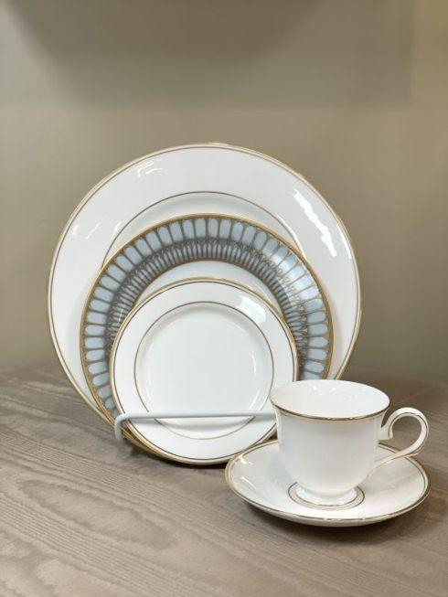 Pieces of Eight Exclusives   Federal Gold with Arcades Grey 5 piece place setting $171.25