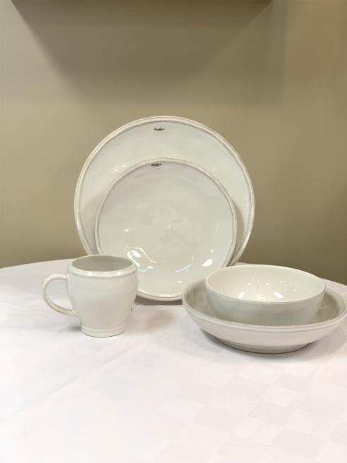 Pieces of Eight Exclusives   Fontana White with Puro Whitewash 5 Piece Place Setting $114.00