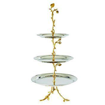 Elegance by Leeber   Golden Vine 3 Tiered Server $85.00