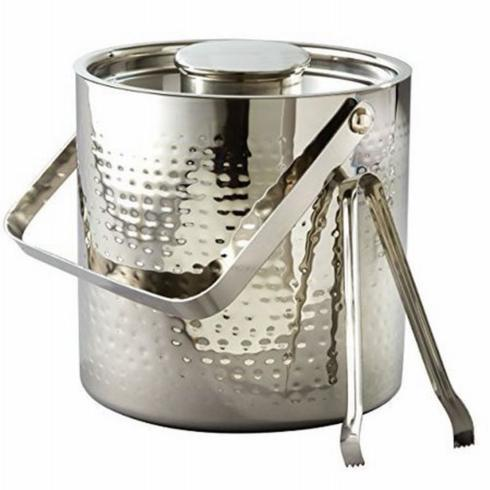 Pieces of Eight Exclusives   Hammered Ice Bucket with Tongs $79.95