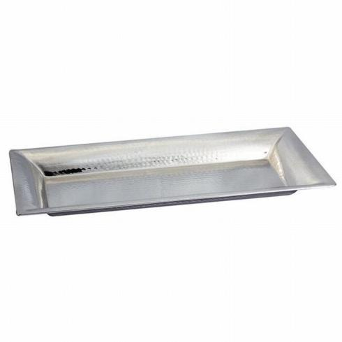 $49.95 Hammered Rect Tray 18x9