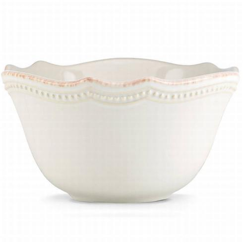 French Perle White Fruit Bowl collection with 1 products