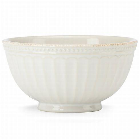 French Perle Groove White All Purpose Bowl collection with 1 products